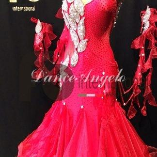 スタンダードドレス 赤クリスタルリーフ